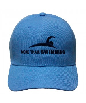MTS BASEBALL CAP MORE THAN SWIMMING WATERPOLO LIGHT BLUE