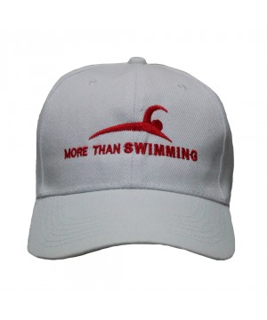 MTS BASEBALL CAP MORE THAN SWIMMING WATER POLO WHITE