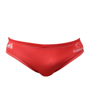 Suit MTS Canada Maple Leaf Swimwear, Swim Briefs for swimmers, Water Polo, Underwater hockey, Underwater rugby