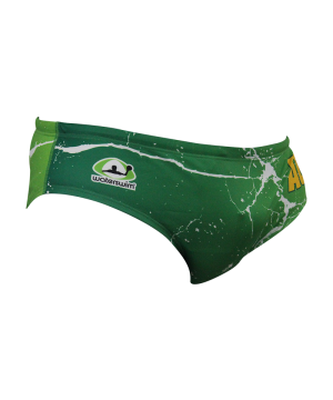 Suit Waterswim Australia Kangaroo Green Swimwear, Swim Briefs for swimmers, Water Polo, Underwater hockey, Underwater rugby