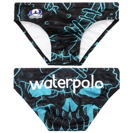 WATERSWIM MENS BLUE MONSTER WATER POLO SUIT
