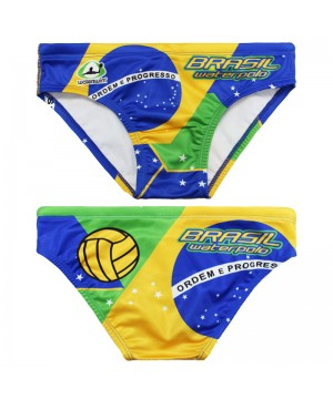 WATERSWIM MENS FLAG BRAZIL WATER POLO SUIT
