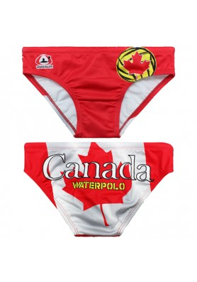 WATERSWIM MENS CANADA FLAG WATER POLO SUIT