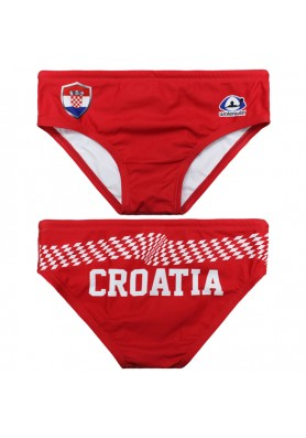 WATERSWIM MENS CROATIA RED WATER POLO SUIT