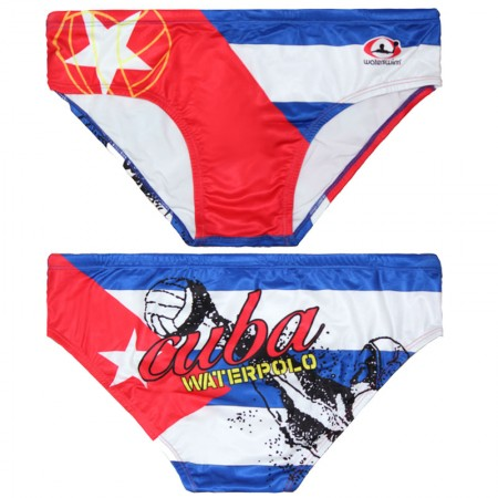 WATERSWIM MENS CUBA FLAG WATER POLO SUIT