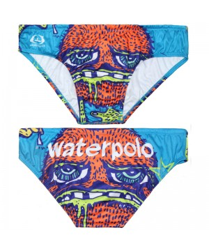 WATERSWIM MENS  ORANGE FACE  WATER POLO SUIT